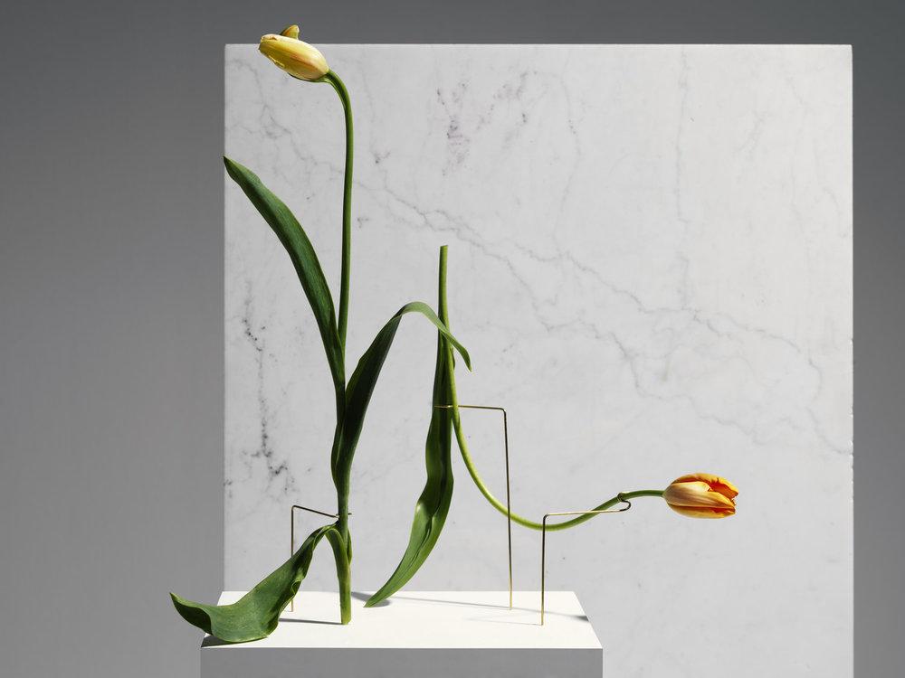 Carl Kleiner posture vases on marble bckground