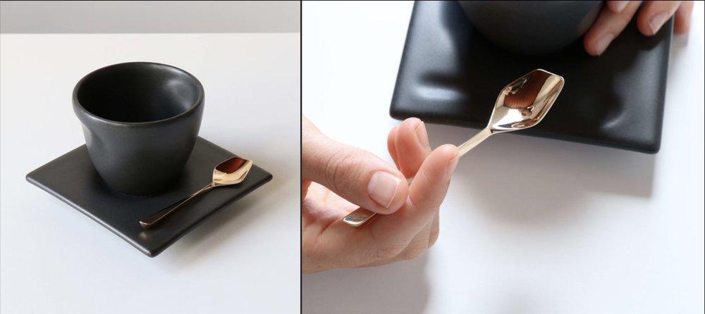 Black espresso cup set by kamp studio
