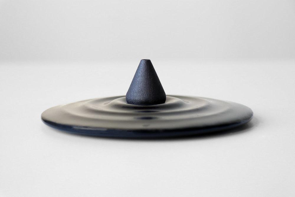 Round incense burner by kamp studio