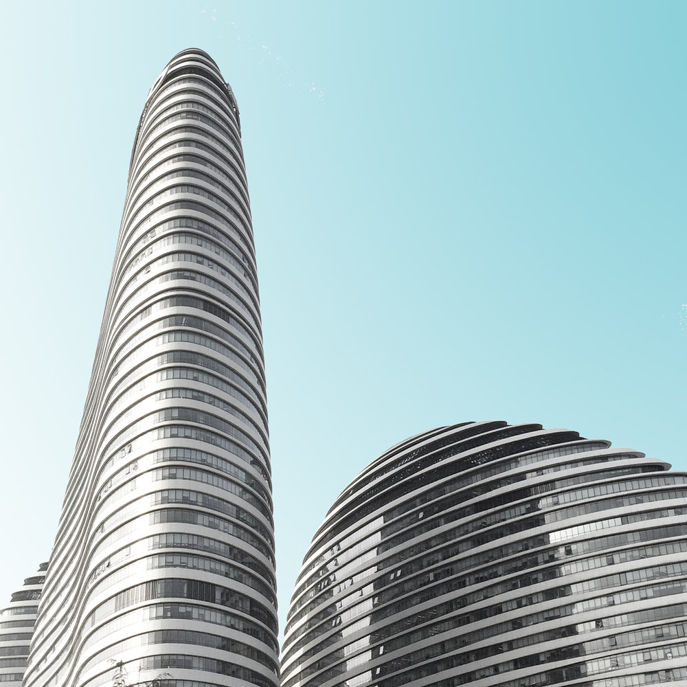 Minimal photography by Kris Provoost: curvy grey building
