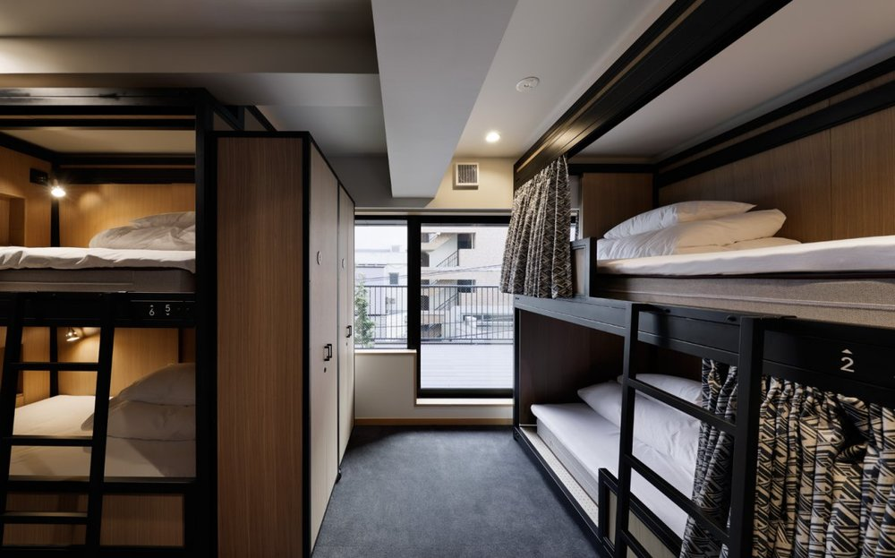 Dorm beds at Wired Hotel