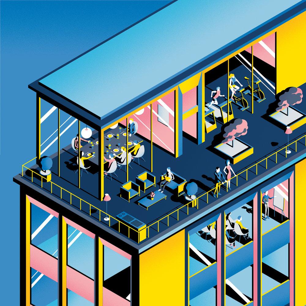 Pop modern digital illustration by Jack Daly
