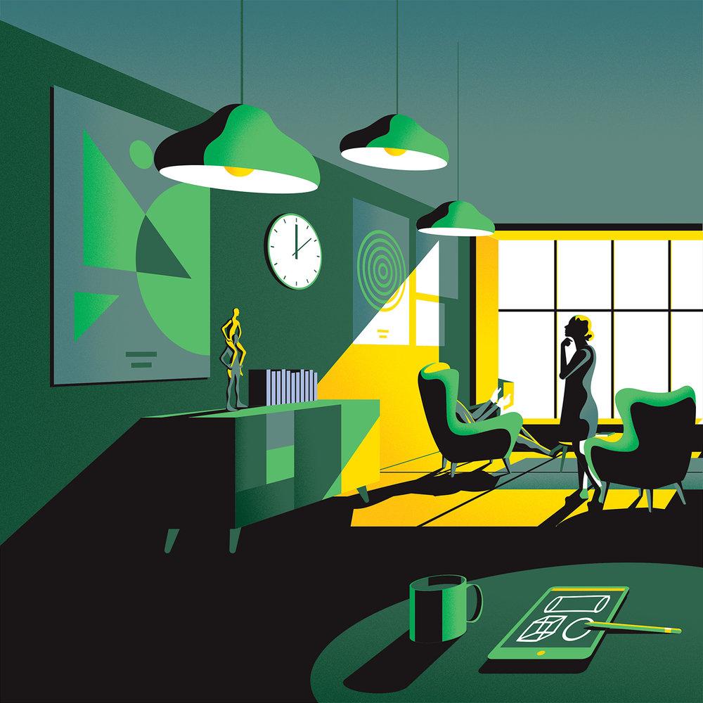 Modern pop art digital illustrations