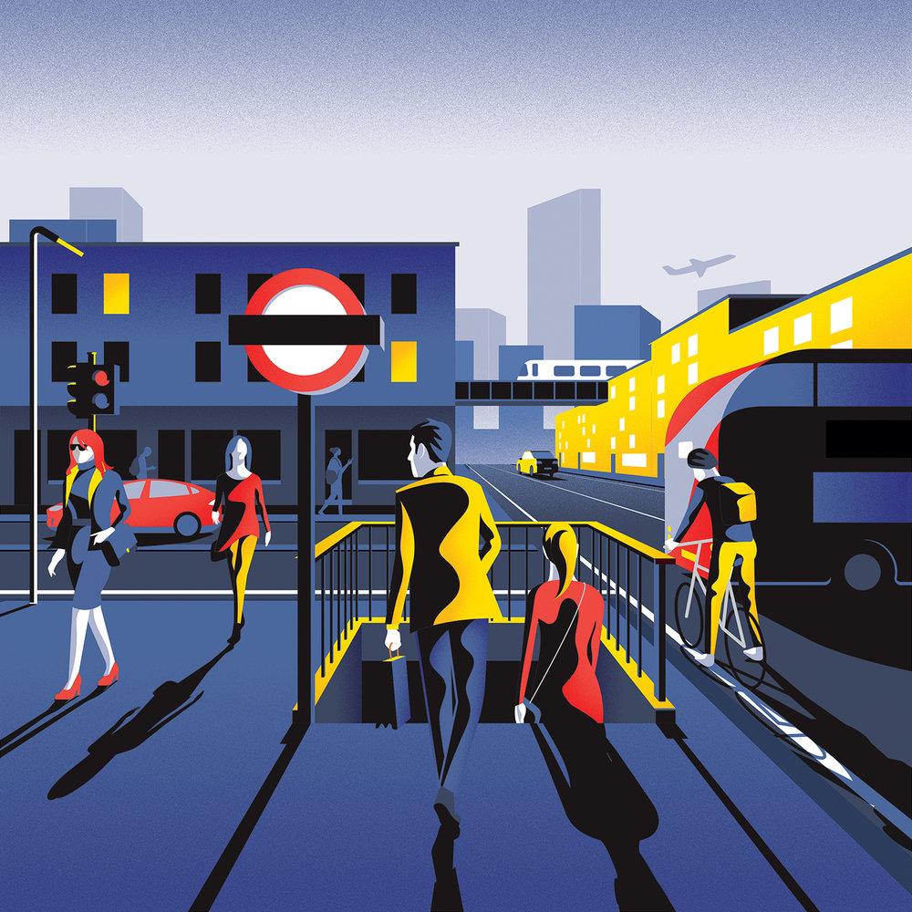 Jack Daly digital pop art for Essential Living