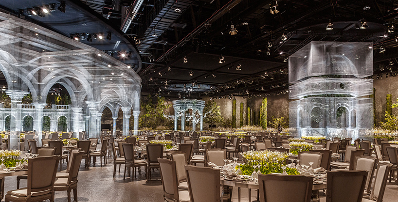 Wire mesh architecture for event in Abu Dhabi