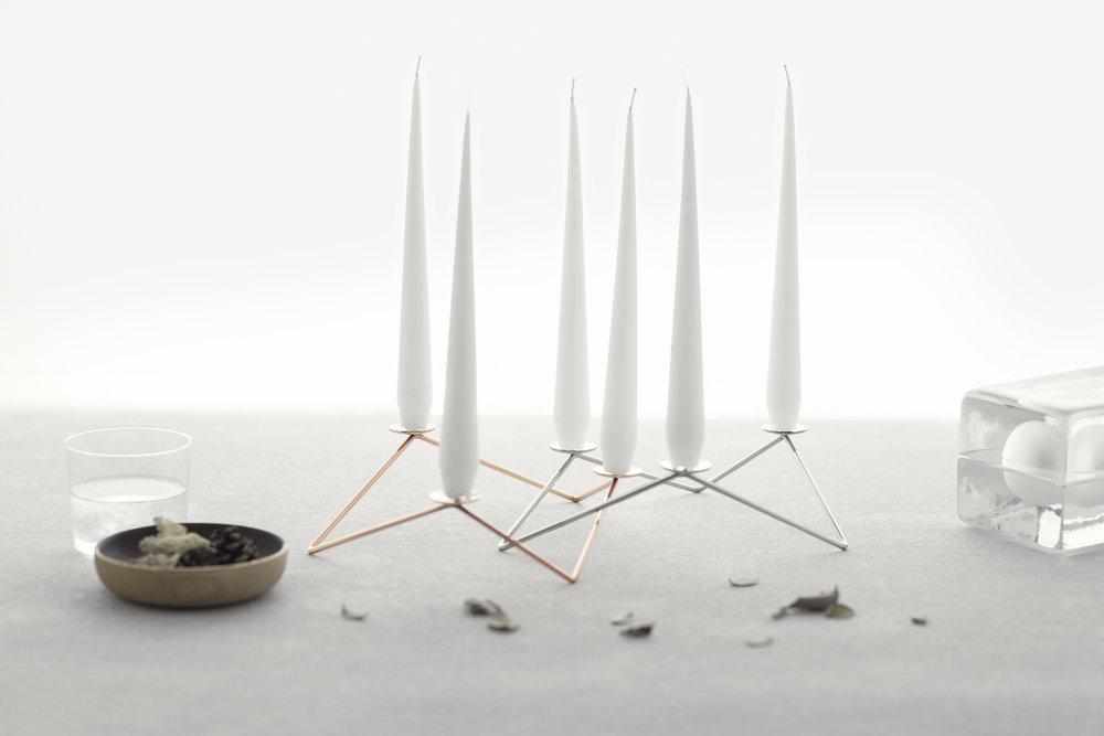 """Avani - """"Non si tratta di una forma: sta tutto nella disposizione delle candele nello spazio"""""""