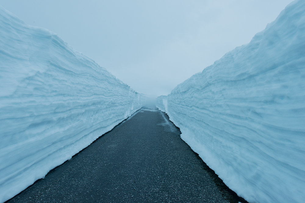 Pic of straight path in the ice