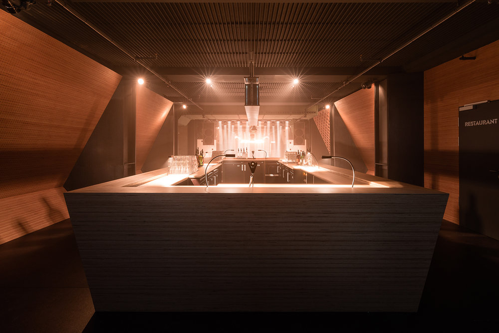 Bar design for Blitz Club