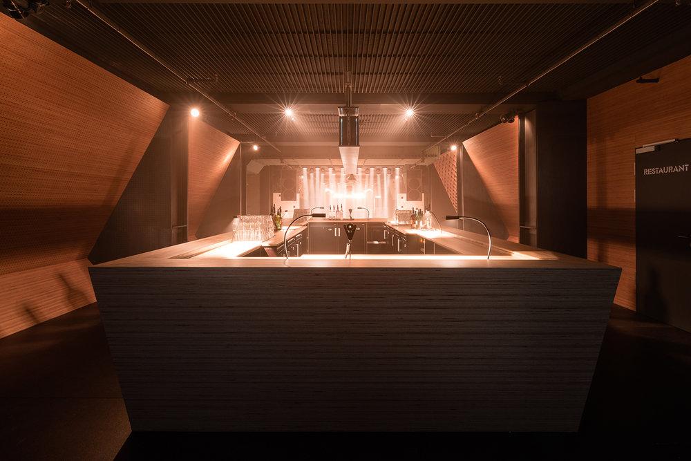 Bar design for Blitz Club