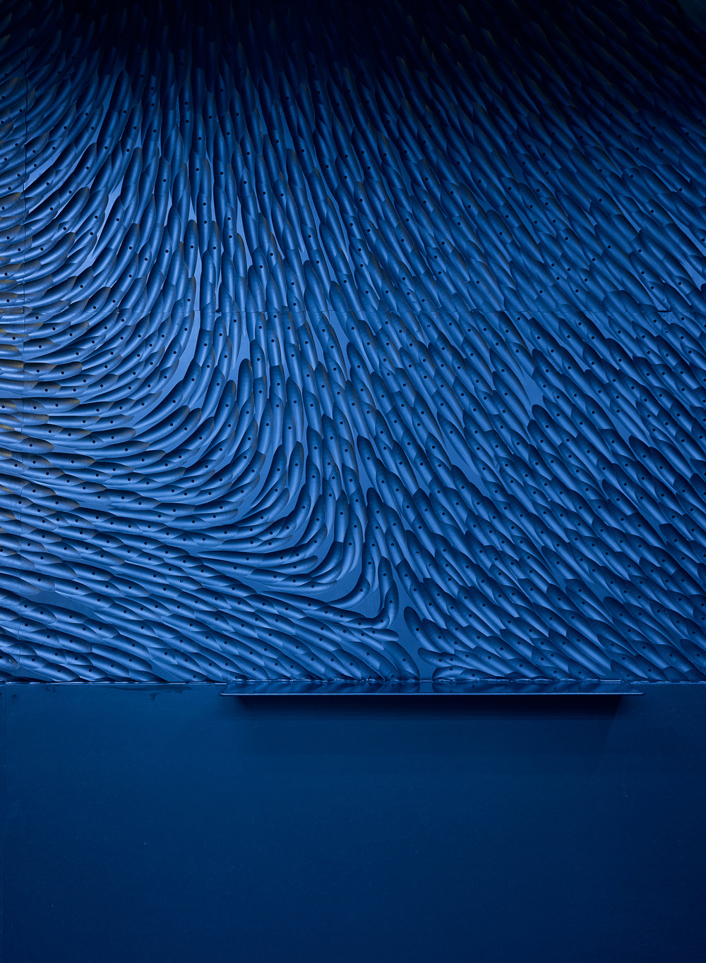 Unique wall pattern design for nightclub interior