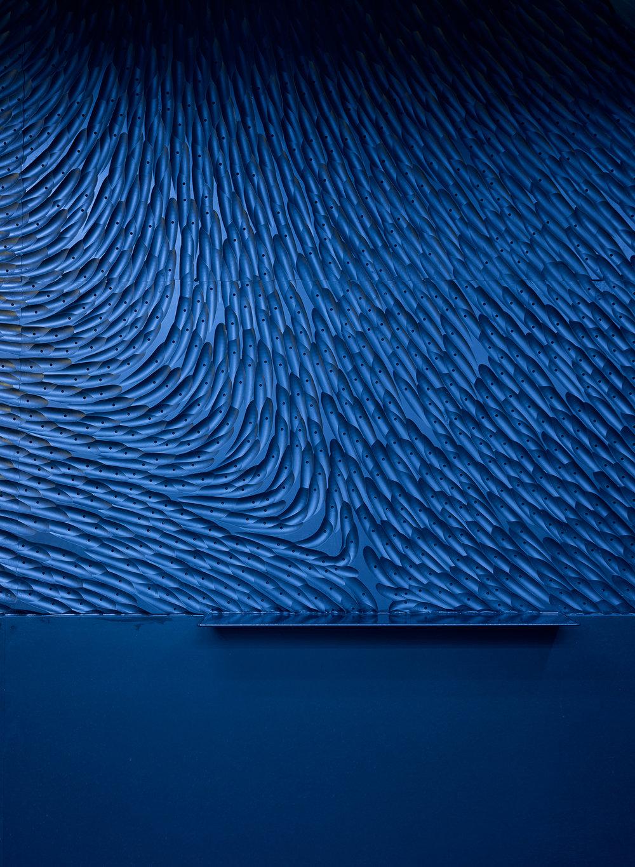 Unique wall pattern design for nightclub interior