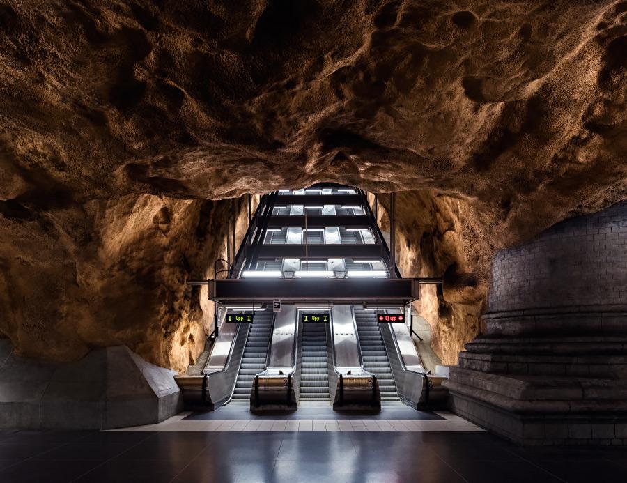 Nick Frank photography series of subways