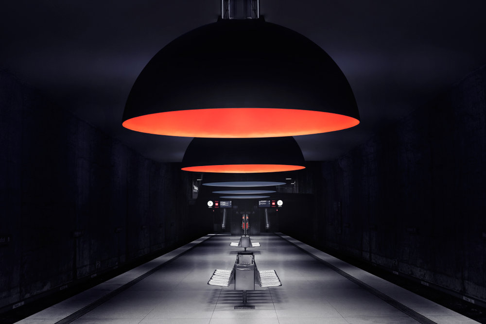 Lampshades in subway stations