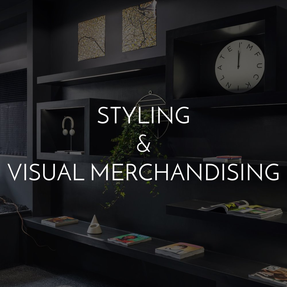 Styling and visual merchandising services