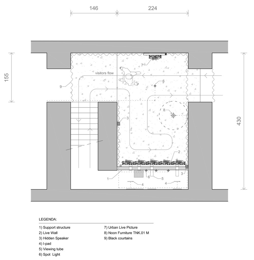 Room planning and project for the installation