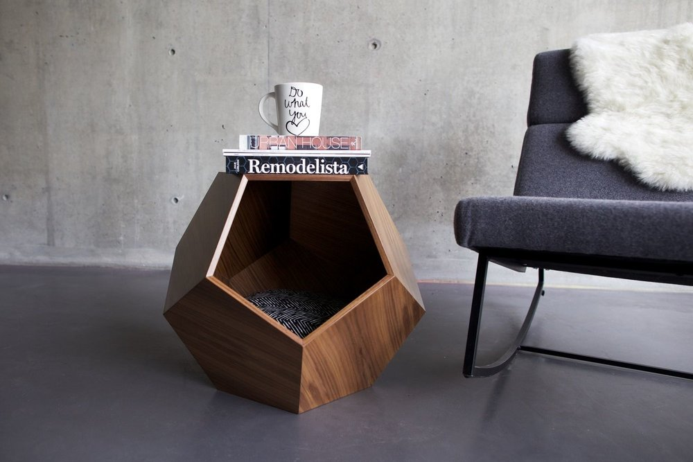 Pet house or side table? The wooden diamond by PUP and KIT is ultra modern and stylish.