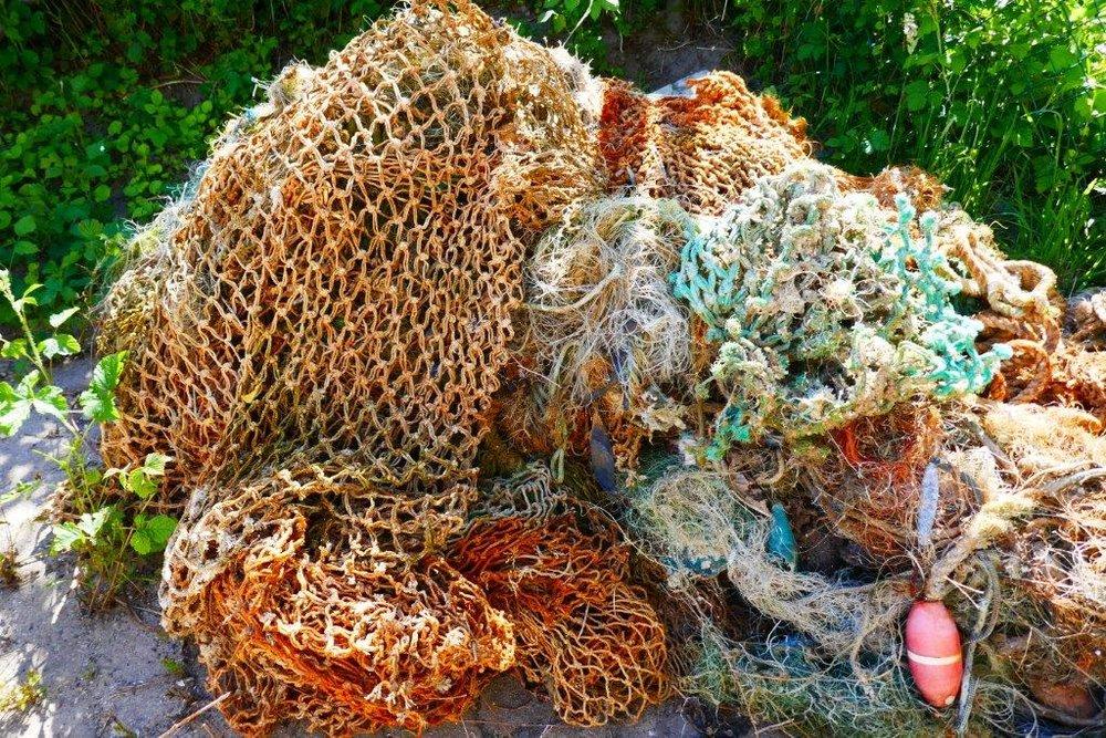 Redes de pesca, proporcionadas por Healthy Seas