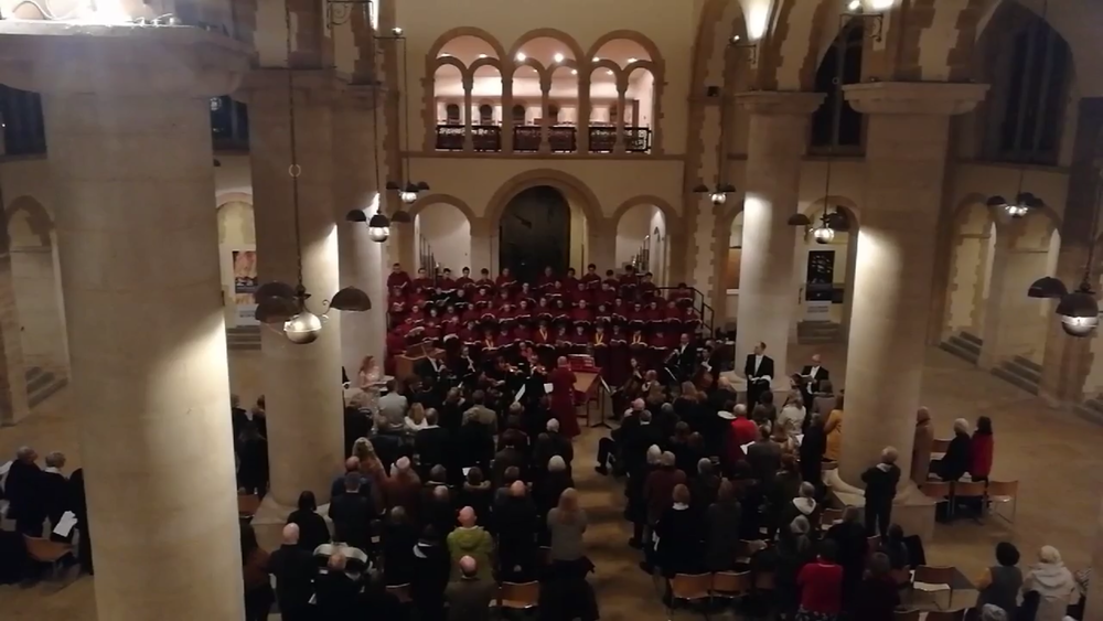 The performance in the nave of Portsmouth Cathedral was attended by over 200 guests