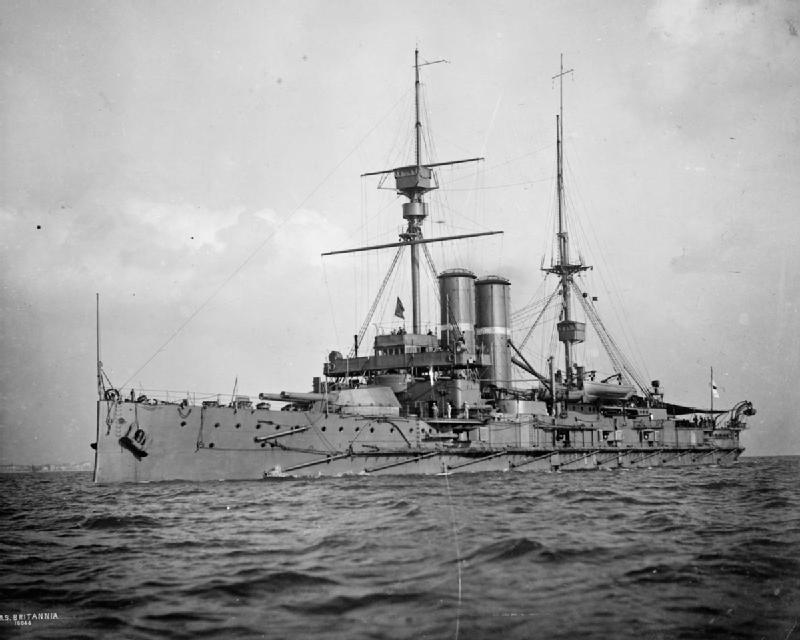 HMS Britannia   (Credit:  By Symonds & Co - This is photograph Q 21042 from the collections of the Imperial War Museums (collection no. 2107-01), Public Domain )