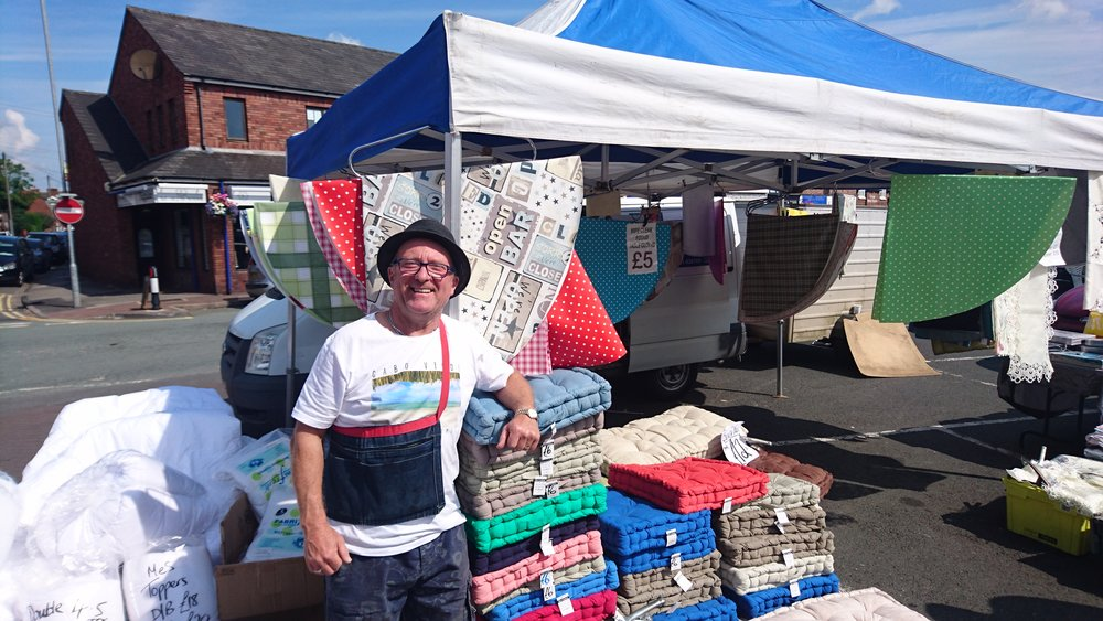 Penkridge Bedding - Bedding, Tea Towels, Table Coverings, Duvets, Pillows, Seat Pads, Dog Beds and Cushions/covers.Location: Outdoor MarketTrading: ThursdayContact: 07951 426709