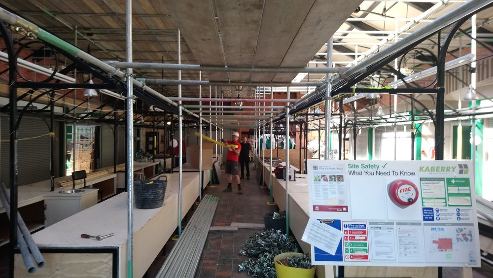 Week 4 - This week the scaffolding is currently being erected in preparation for the decorating and electrical works at high level.