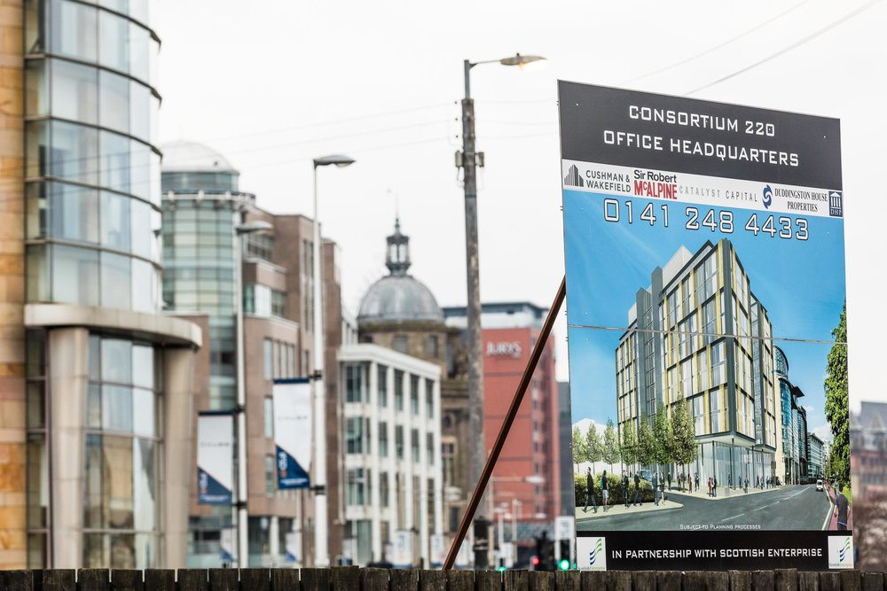 New office development site on the corner of St McAlpine Street and Broomielaw in Glasgow