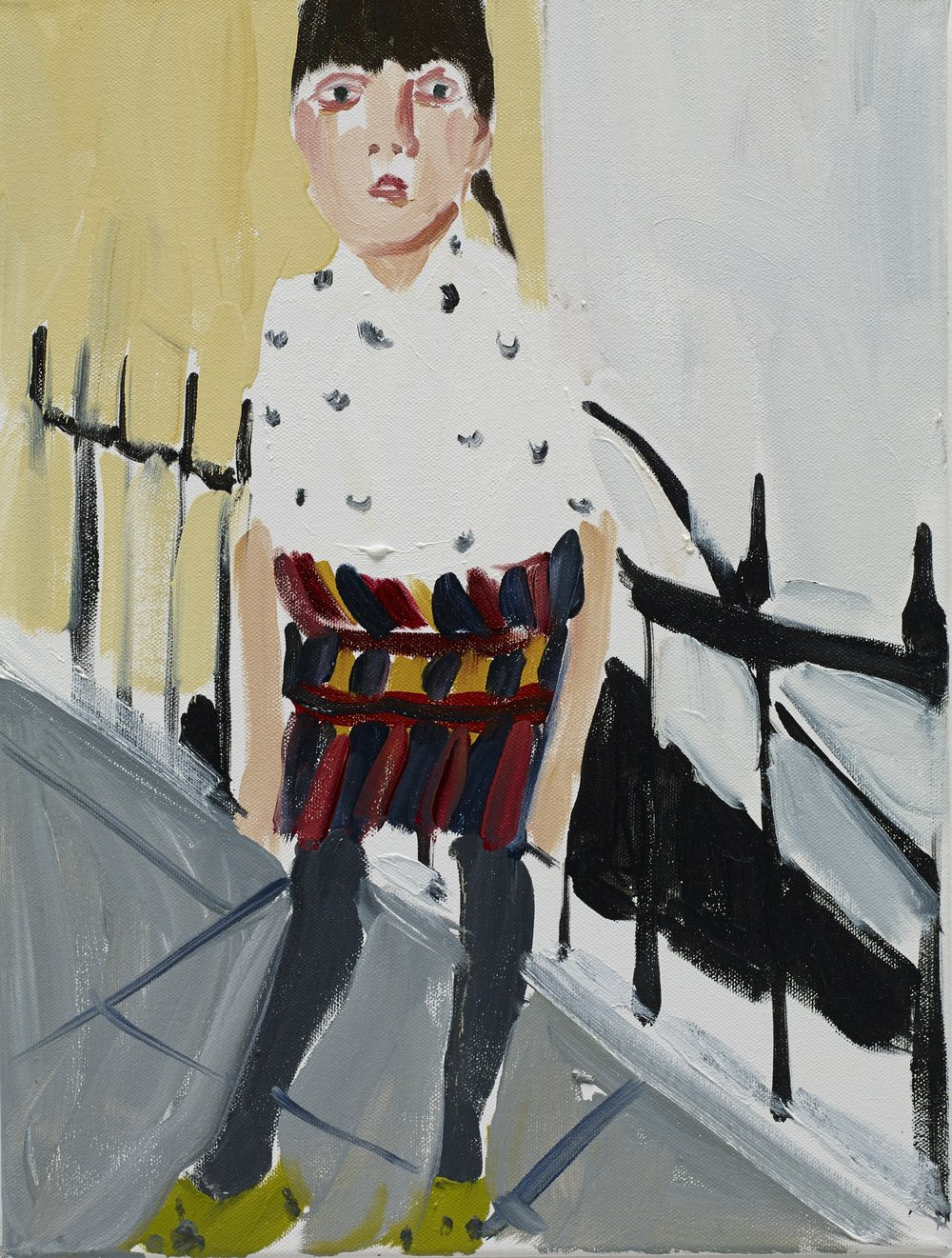Chantal Joffe RA (b. 1969)  Esme by the Railings  2014, © Chantal Joffe. Jerwood Collection. Courtesy the Artist and Victoria Miro, London (Photography Stephen White).