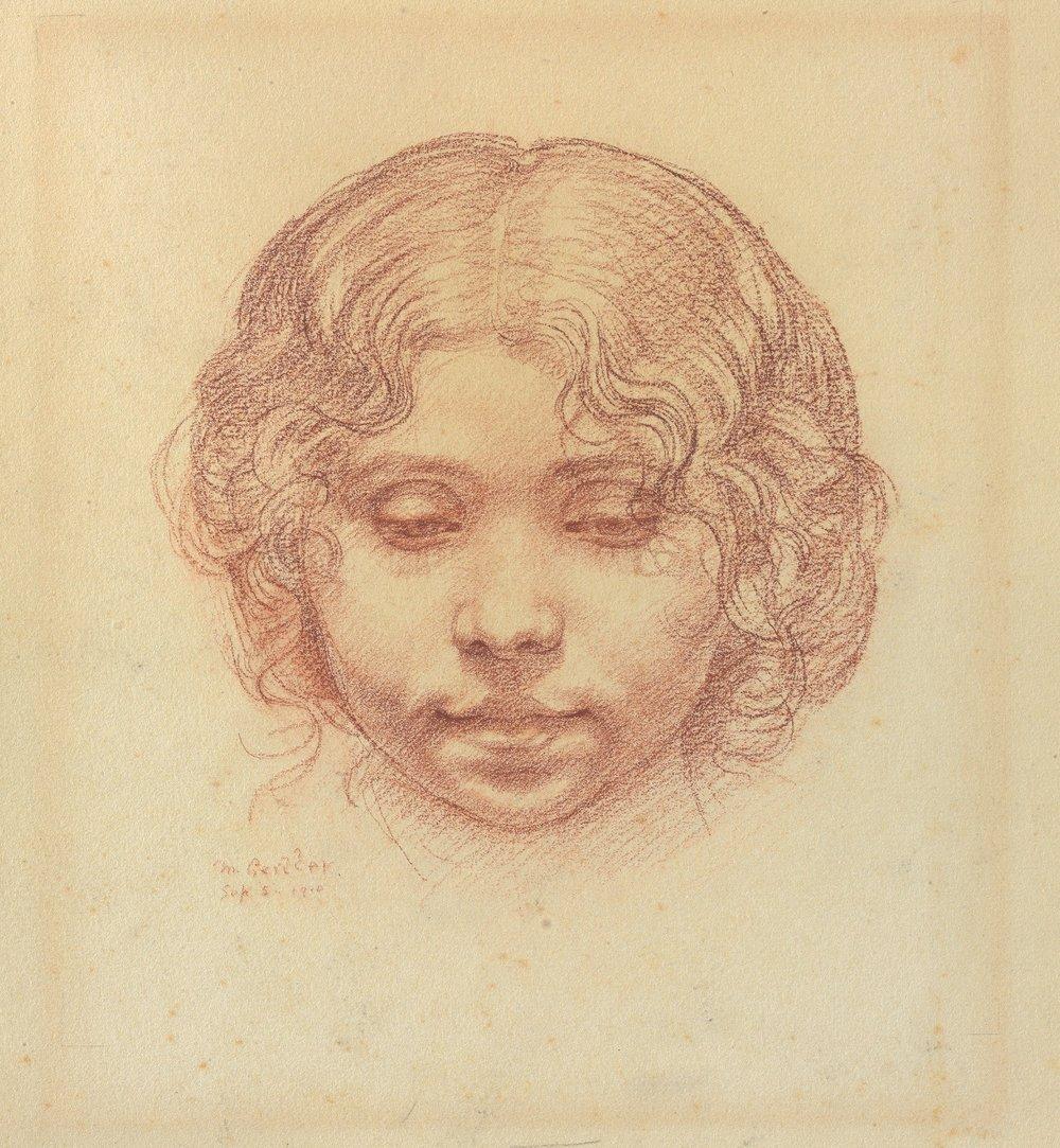 Mark Gertler (1891-1939)  Head of a Girl  1910, © Jerwood Collection