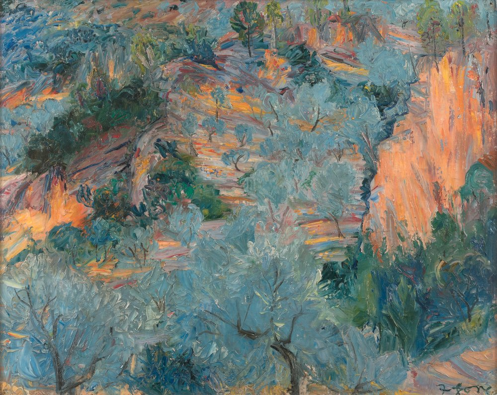 Frederick Gore CBE RA (1913-2009)  Mountain Landscape, Soller    © Estate of Frederick Gore. All Rights Reserved, DACS 2018