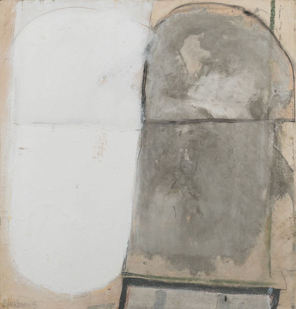 John Blackburn (b. 1932)  Jerwood: Grey with White  © John Blackburn, Courtesy of Osborne Samuel Gallery