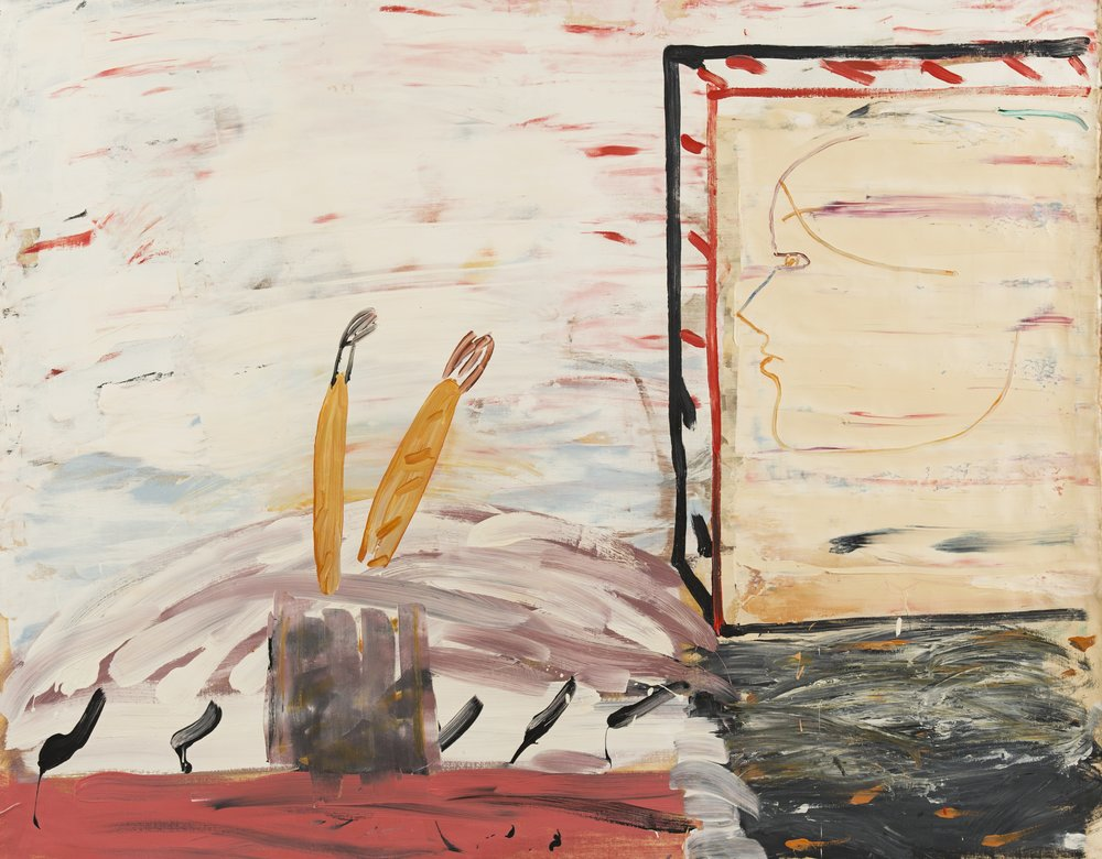 Roy Oxlade,  Profile and Brushes,  1984-1985