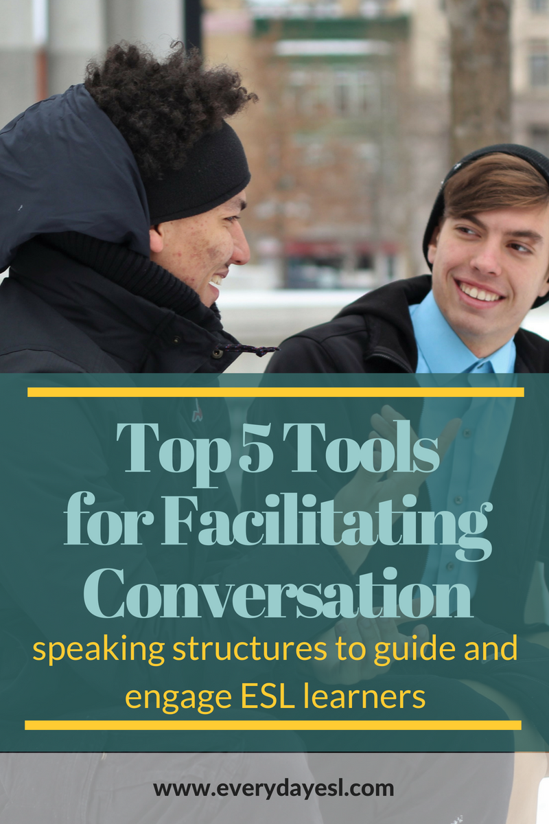 My Top 5 Speaking Structures for an Adult ESL Class   Everyday ESL   Teaching English   Speaking Structures   Adult ESL   Speaking Activities   How to Teach English   Conversational English  