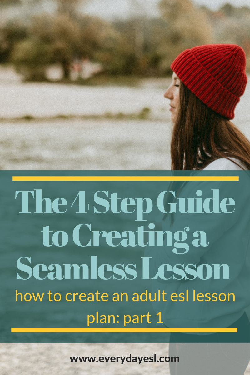 The 4 Step Guide to Creating a Seamless Lesson Plan: Part 1 | Everyday ESL | Adult ESL | ESL Lesson Plans | Lesson Planning Workbook | Pre-Planning | Creating a Lesson Plan | Adult Education | Adult ESL Activities