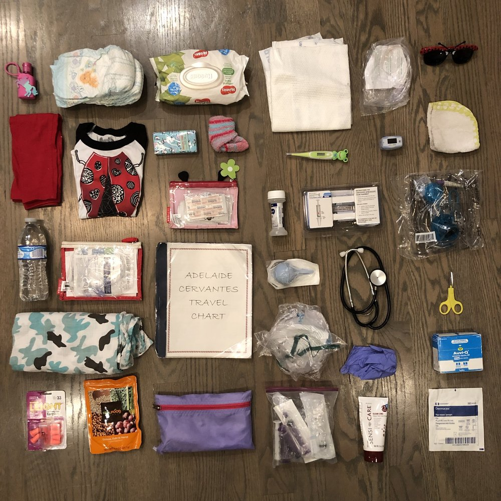 Some of the contents of Miss A's duffle bag
