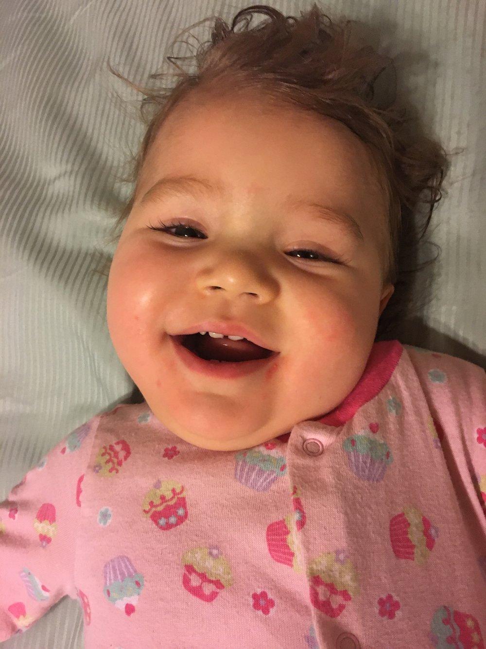Post-bath smile