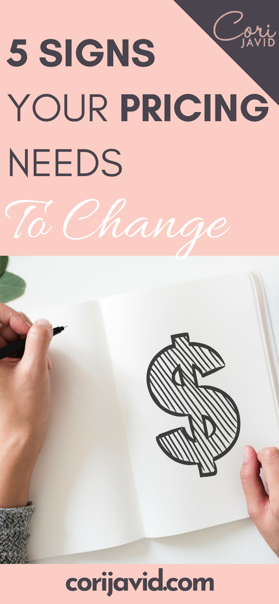 5 SIGNS YOUR PRICING NEEDS TO CHANGE