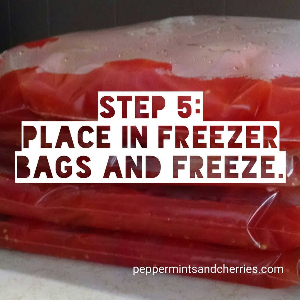 Step 5 for Freezing Tomatoes