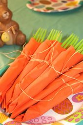 Easter Carrot Napkins from A Fireman's Wife
