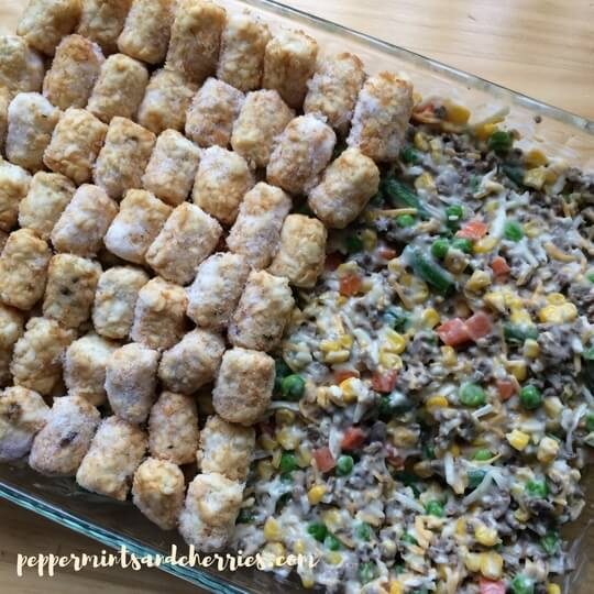 Tater Tot Casserole with Veggies
