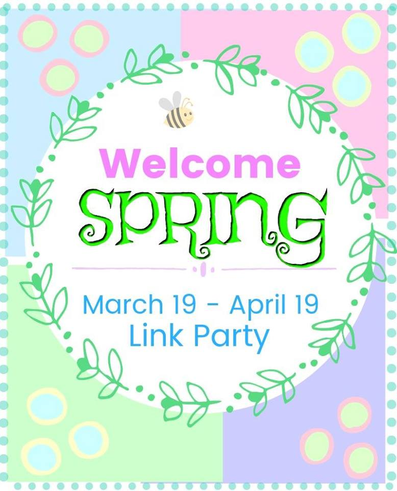Welcome Spring Link Party at www.peppermintsandcherries.com