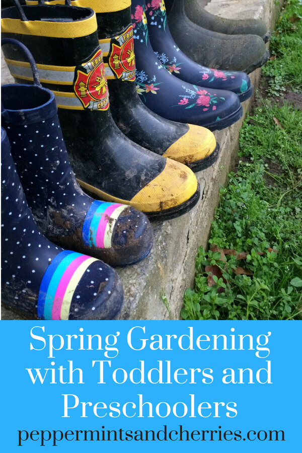 Spring Gardening with Help from a Toddler and a Preschooler www.peppermintsandcherries.com