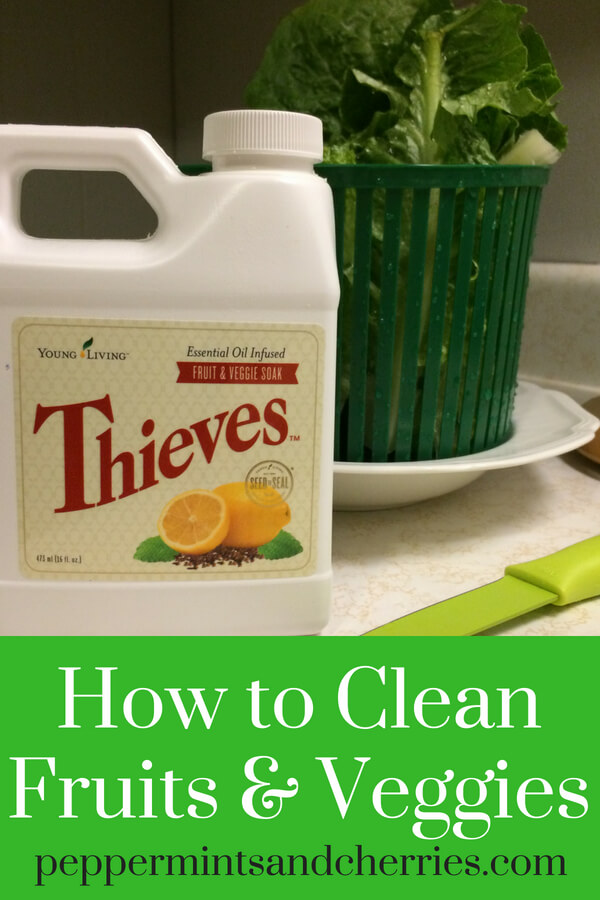 Preparing produce for daily meals and cooking doesn't have to be a difficult task. Young Living's Thieves Fruit and Veggie Soak makes cleaning fruits and veggies as simple as one, two, three! #fruitsandveggies #thieves #youngliving #younglivingessentialoils #cleaneating #produce101