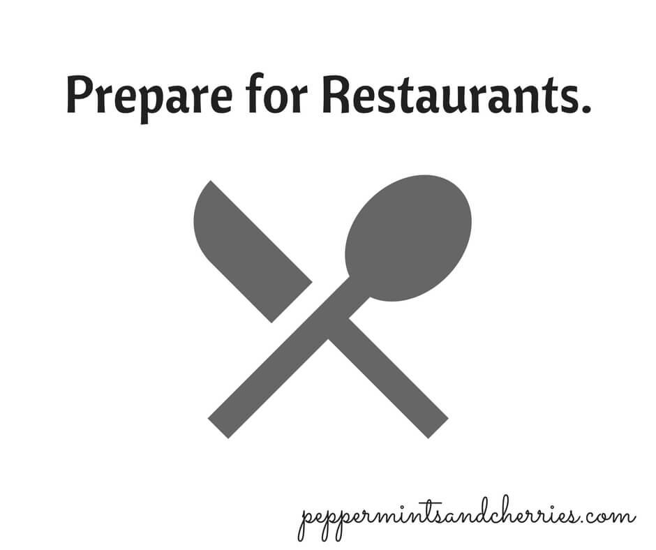 Prepare for Restaurants.