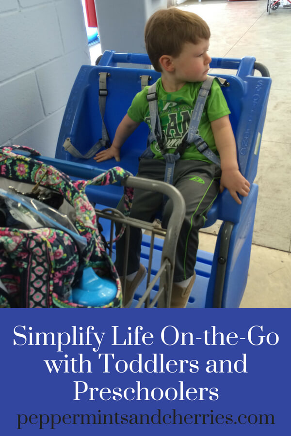 Simplify Life On-the-Go with Toddlers and Preschoolers www.peppermintsandcherries.com