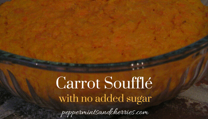 Carrot Souffle with No Added Sugar