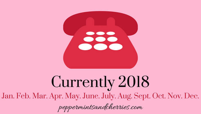 Currently at www.peppermintsandcherries.com, February 2018, Finishing, Subscribing, Wishlisting, Watching, and Hearting