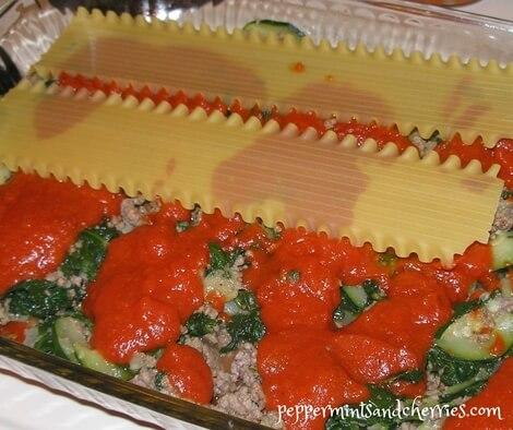 Preparing the Lasagna