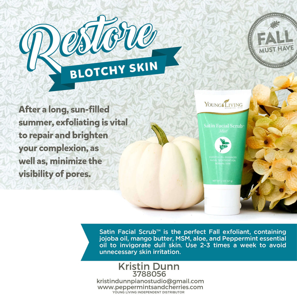 Restore Blotchy Skin with Young Living's Satin Facial Scrub