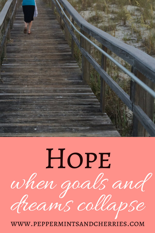Hope When Goals and Dreams Collapse www.peppermintsandcherries.com