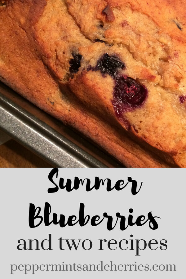 Summer Blueberries and Recipes for Blueberry Bread www.peppermintsandcherries.com